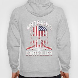 Air Traffic Controller Skull  Aircraft Flyer Gift Hoody