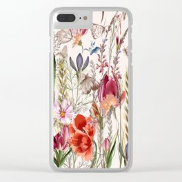 Bright spring field. Romantic pattern Clear iPhone Case