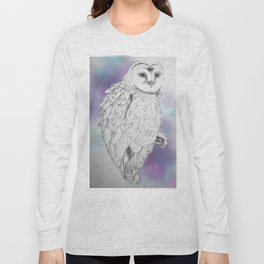 Owl with a third eye and crystal ball Long Sleeve T-shirt