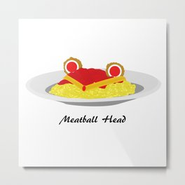 Sailor moon meatball head Metal Print
