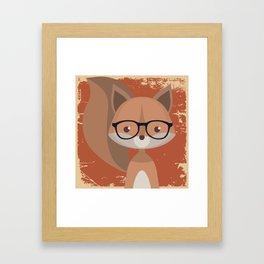 Hipster Squirrel Framed Art Print
