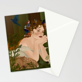 Mielikki, Finnish goddess of the forest Stationery Cards