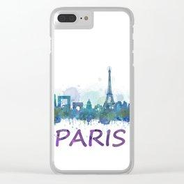 Paris City Skyline HQ Clear iPhone Case