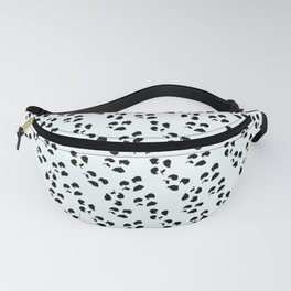Irregular Dots, White And Black Fanny Pack