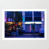 The City of Brussels at night Art Print