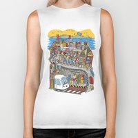 grateful dead Biker Tanks featuring Bound To Cover Just A Little More Ground - The Grateful Dead by Schlayer Design