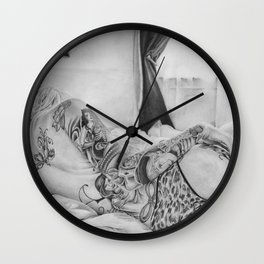 Chicks & Tattoo's  Wall Clock