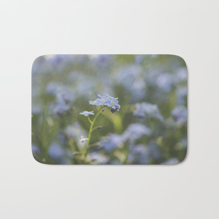 Forget-me-not meadow Spring Flower Flowers Floral on #Society6 Bath Mat