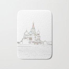 Saint Basil's Cathedral (on white) Bath Mat