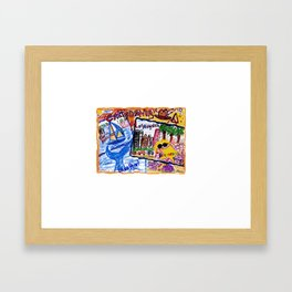 California Postcard Framed Art Print