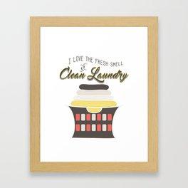 Laundry Room Art Print - Laundry Room Decor - Clean Laundry Wall Art Framed Art Print