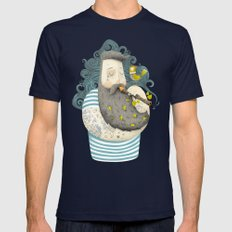 Bird Mens Fitted Tee Navy LARGE