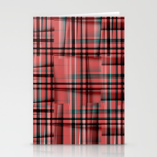 Pattern red 1 Stationery Cards