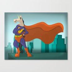 Super Unicorn Canvas Print