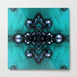 Regal Brooch Turquoise Metal Print