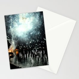 fireworks sea Stationery Cards