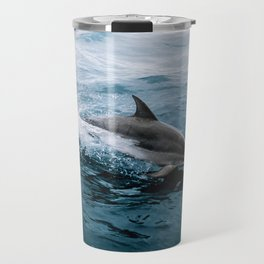 Dolphin in the Atlantic Ocean - Wildlife Photography Travel Mug