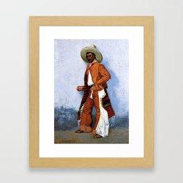 "Frederic Remington Western Art ""A Vaquero"" Framed Art Print"