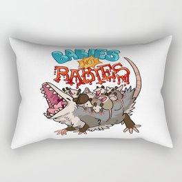 babies not rabies Rectangular Pillow