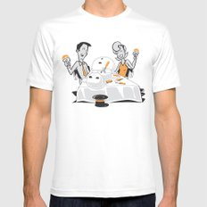 Neighbors Ate My Snowman MEDIUM White Mens Fitted Tee