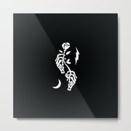 Skeleton Hands Metal Print