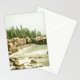 Acadia National Park Maine Rocky Beach Stationery Cards