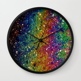Parking Lot Spill Wall Clock