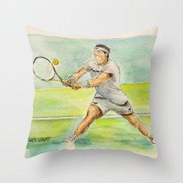 Rafael Nadal Pro Tennis Player Throw Pillow