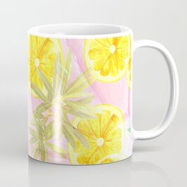 Leafy Orange Print Coffee Mug