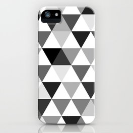 Black and white triangles iPhone Case