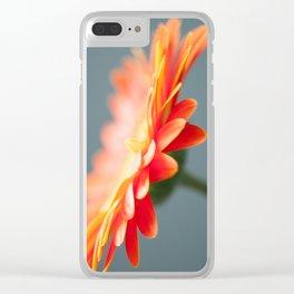 Gerbera Daisy Orange Clear iPhone Case