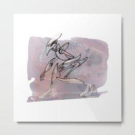 EmoBot Pink Metal Print