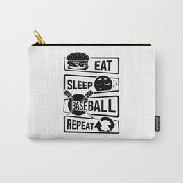 Eat Sleep Baseball Repeat - Home Run Strike Batter Carry-All Pouch