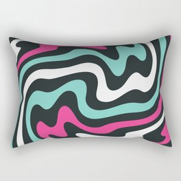 Colorful abstract striped Optical Art in 80s style Rectangular Pillow
