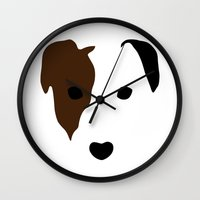 terrier Wall Clocks featuring Russell Terrier by Dizzy Moments