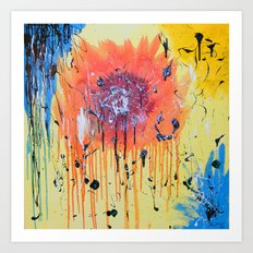 Bleeding poppy Art Print