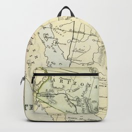 Vintage Map of the South West Of The United States Backpack