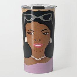 Lavender Shades and Diamonds Travel Mug