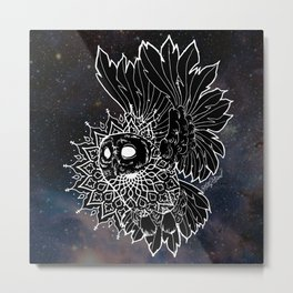 Space Owl Metal Print