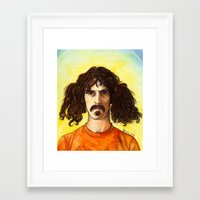 zappa Framed Art Prints featuring Frank Zappa by IamDeirdre