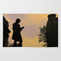 college Area & Throw Rugs featuring Trinity College Sunset by Biff Rendar