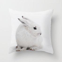 SNOW BUNNY  - ARCTIC HARE Throw Pillow