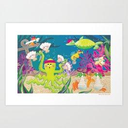 """Go The Distance"" - Sea Gym Art Print"