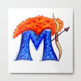 M is for Merida Metal Print