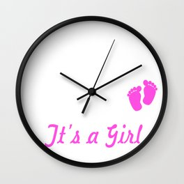 Promoted to Daddy EST. 2018 it's a Girl Wall Clock