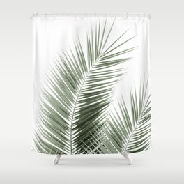 Olive Green Palm Leaves Dream - Cali Summer Vibes #1 #tropical #decor #art #society6 Shower Curtain