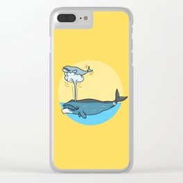 Whalesome Clear iPhone Case