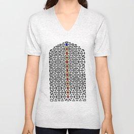 Mughal Window in color Unisex V-Neck