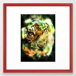 Animal - Grunge Watercolor - Tiger Framed Art Print