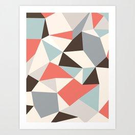 Mod Hues Tris Art Print